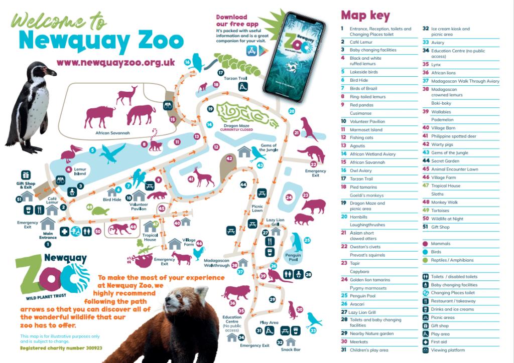 Zoo map July 2021
